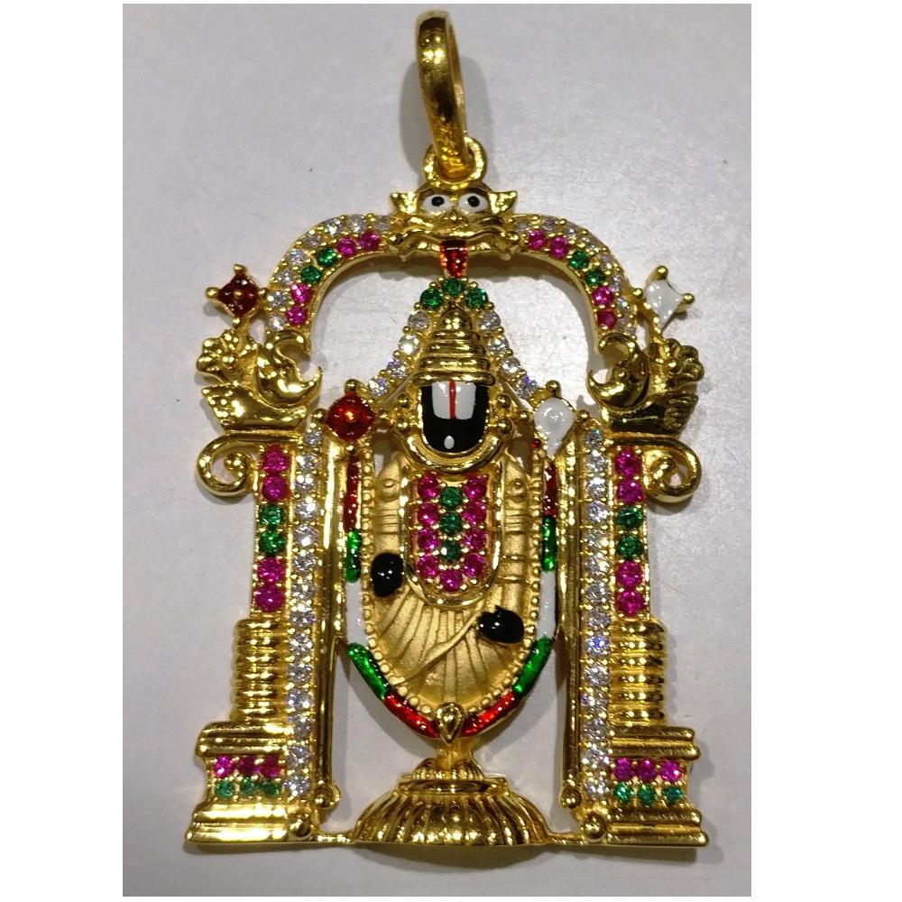 22kt gold casting lord full balaji pendant
