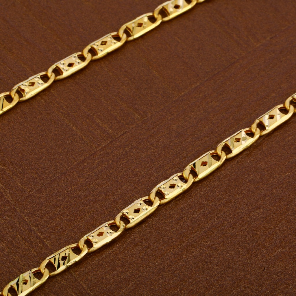 Mens 916 Gold Chain-MNC35