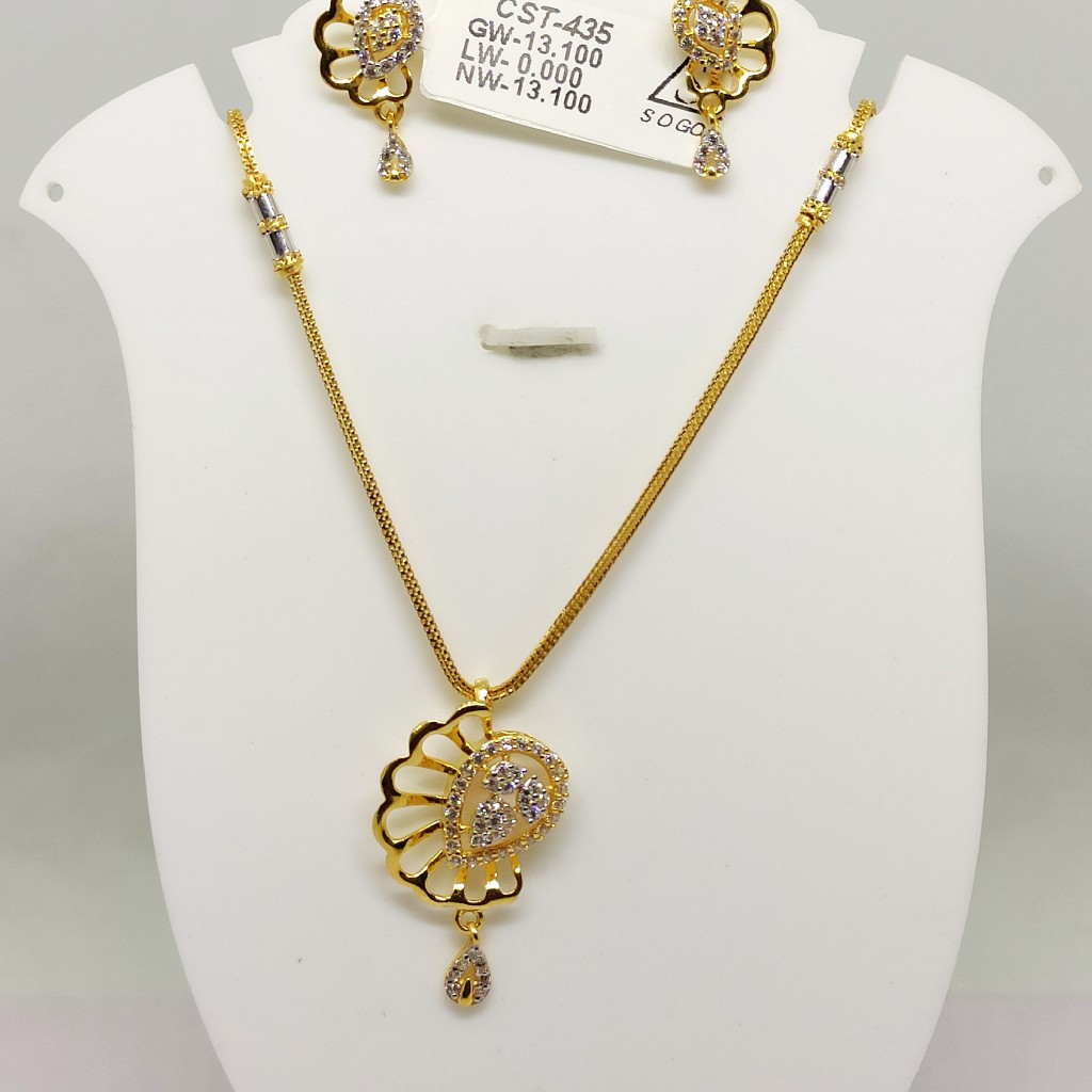 916 Delicate antique chain set