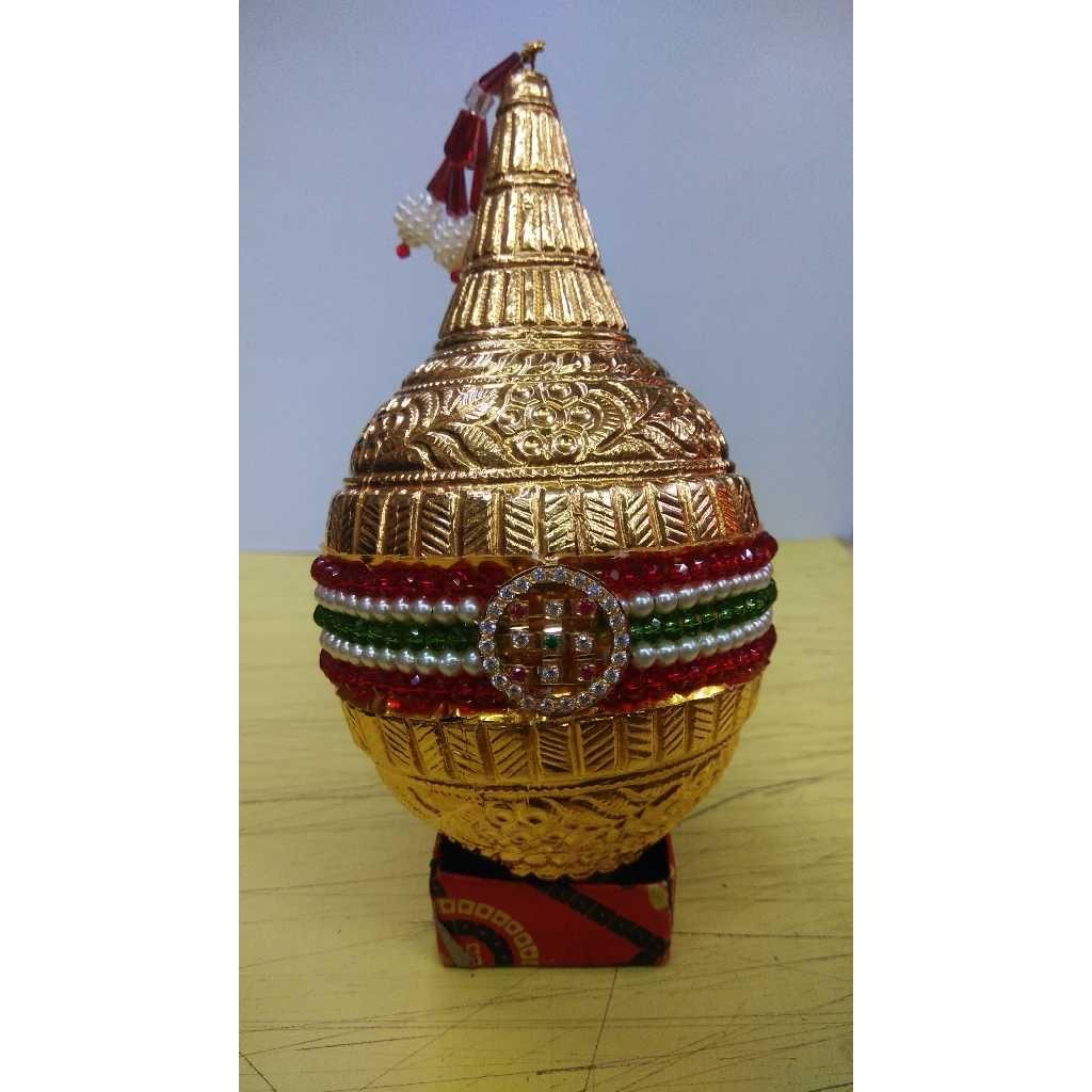 Gold Shreefal (Nariyal) For Pooja