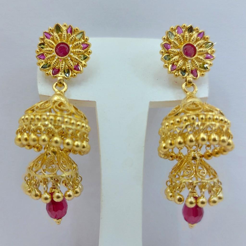 Gold Jummar Earrings