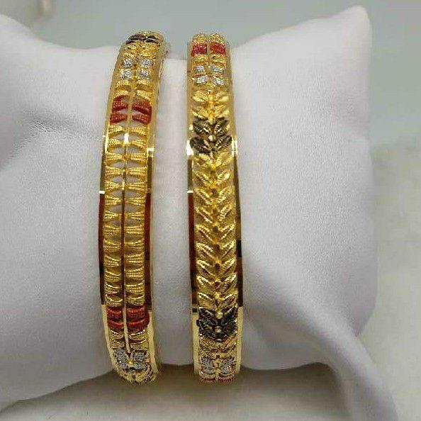 22KT Gold Antique Calcutti Bangles