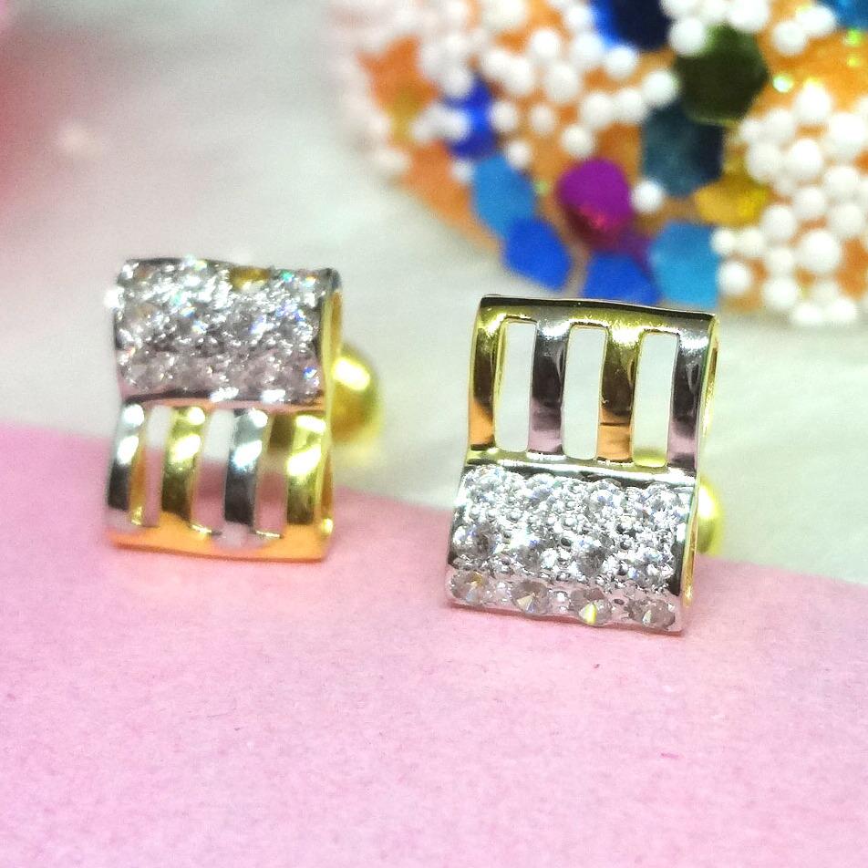 916 gold cz earrings