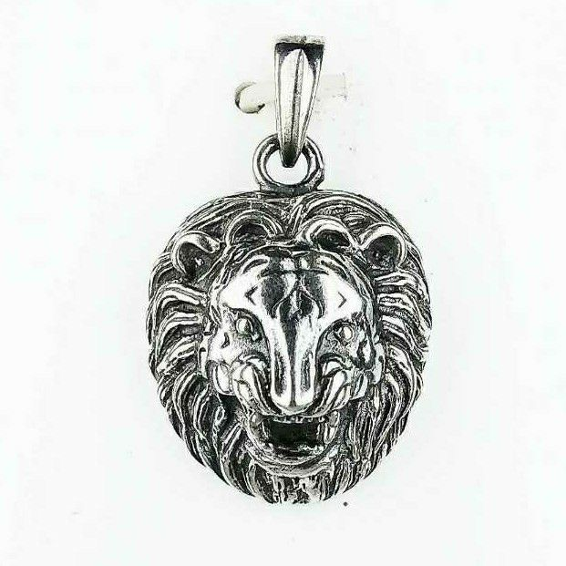 Fancy 925 Silver Ladies Pendant Designed With Lion
