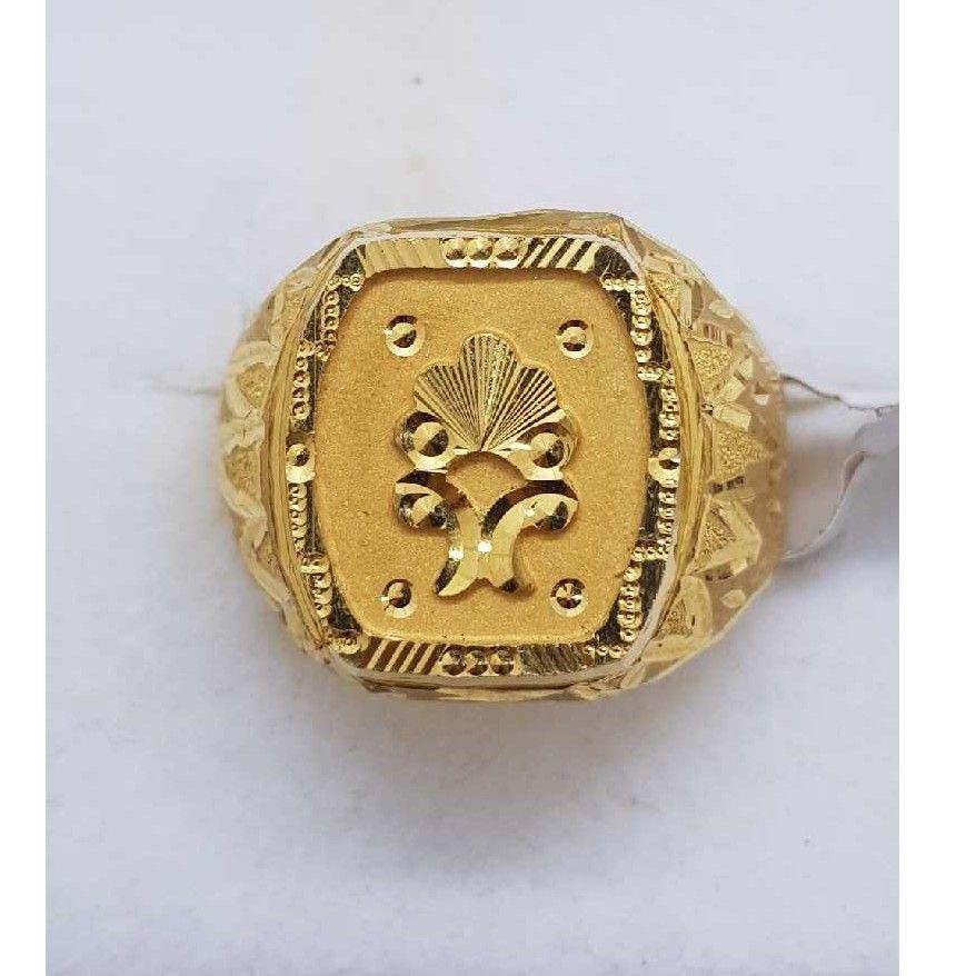 916 Gold hallmark gents ring SJ-GR/78
