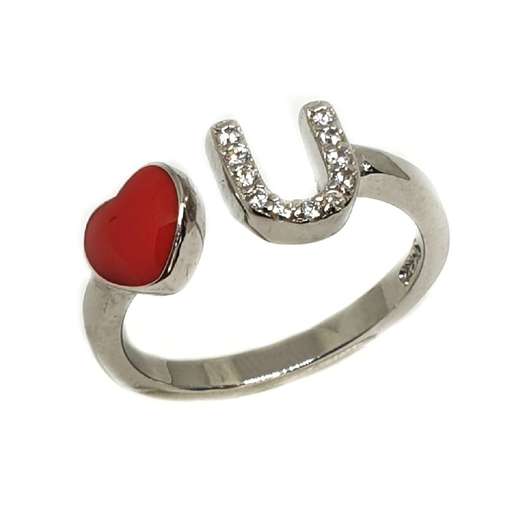 925 Sterling Silver Love You Ring MGA - LRS3380