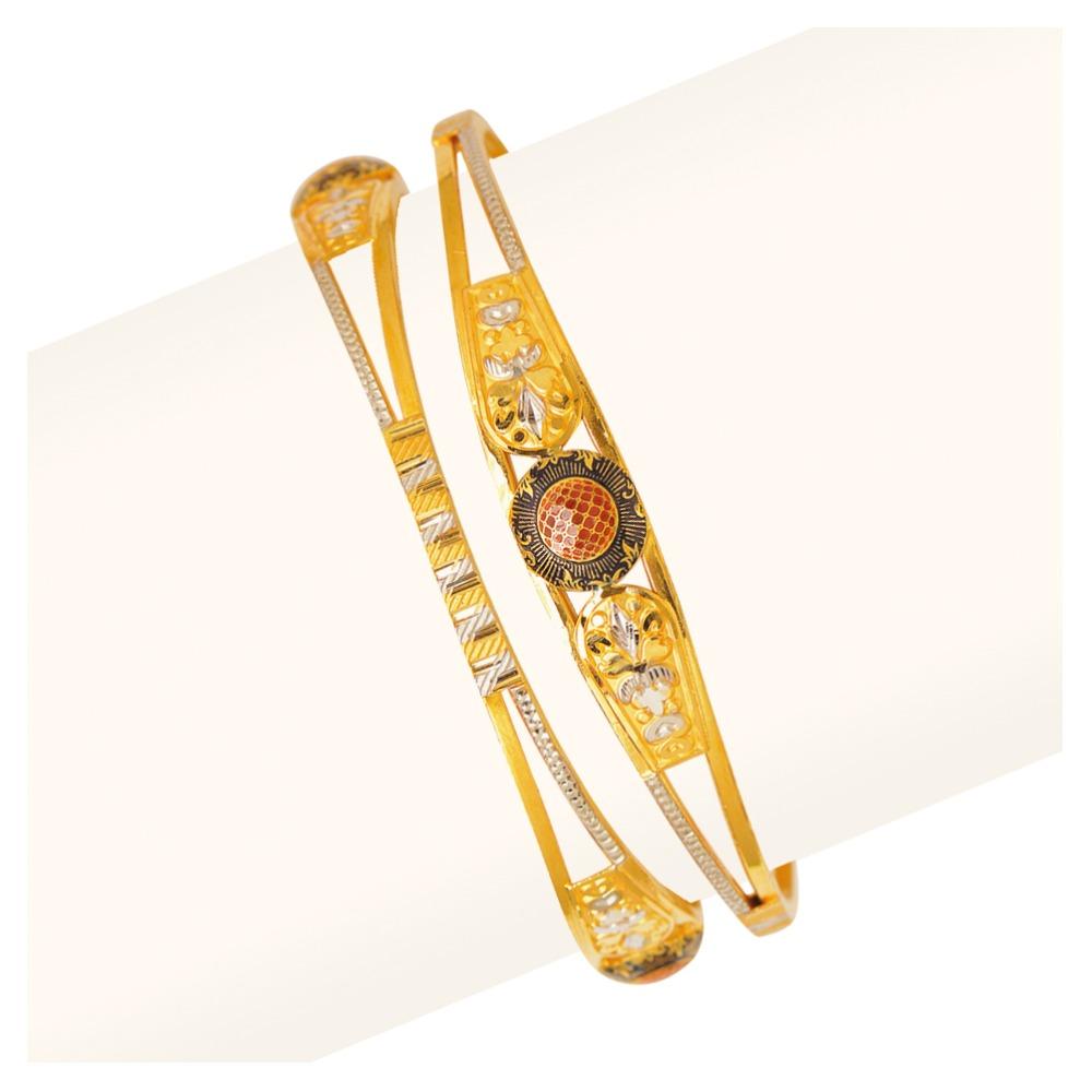 916 Gold Vakiya Copper Kadli Bangle RJV-436