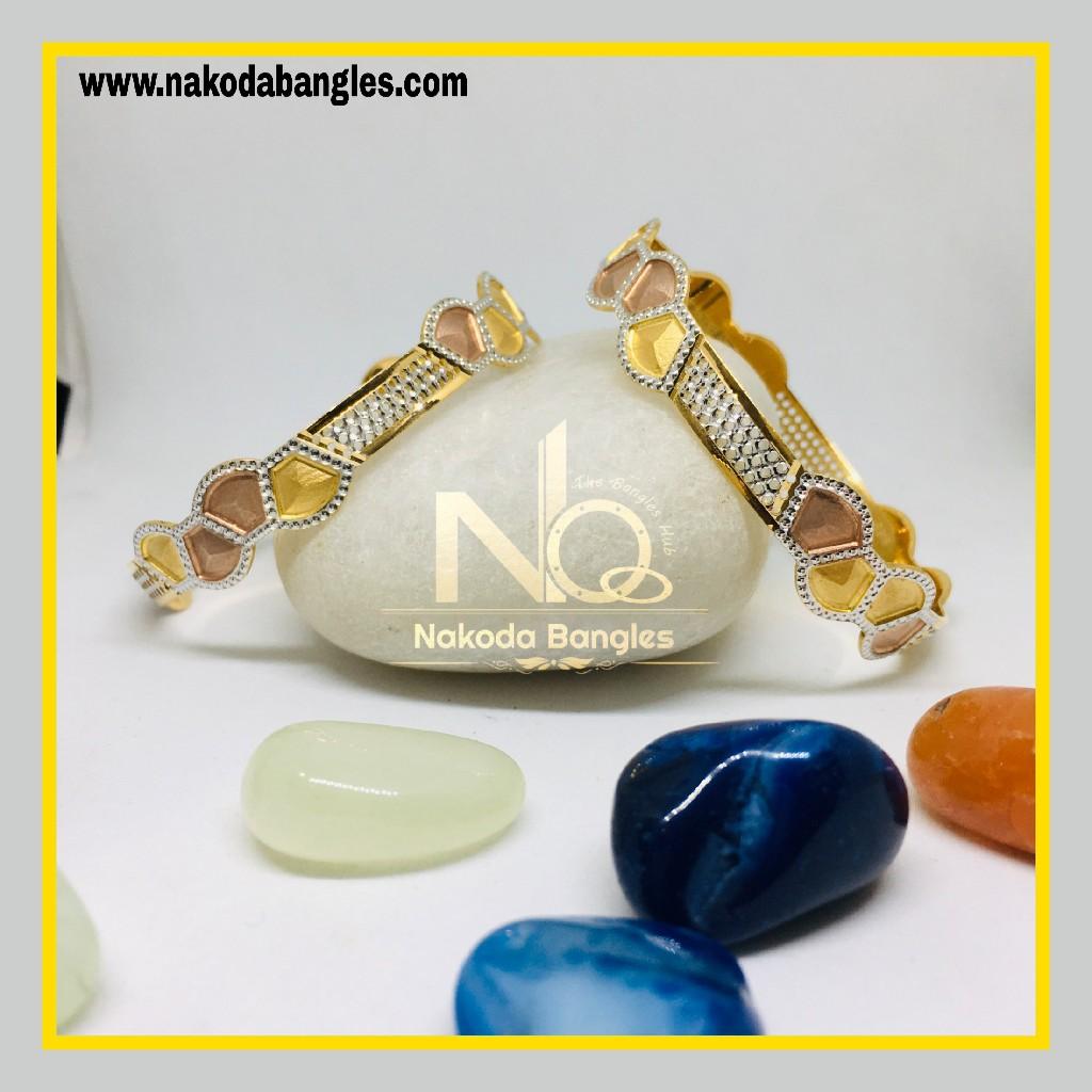 916 Gold CNC Bangles NB - 1278