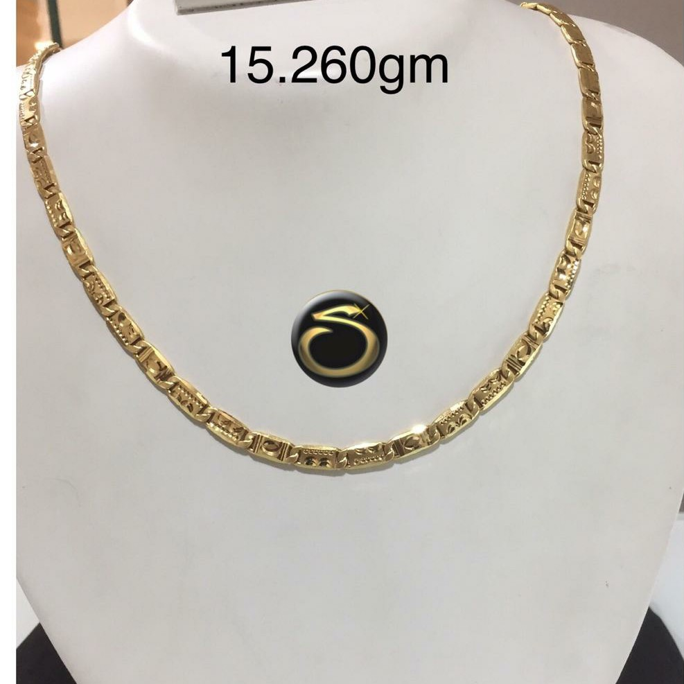 22KT Gold Fancy hollow Chain SC-AD0218