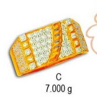 22kt Gold Cz Fancy Gents Ring