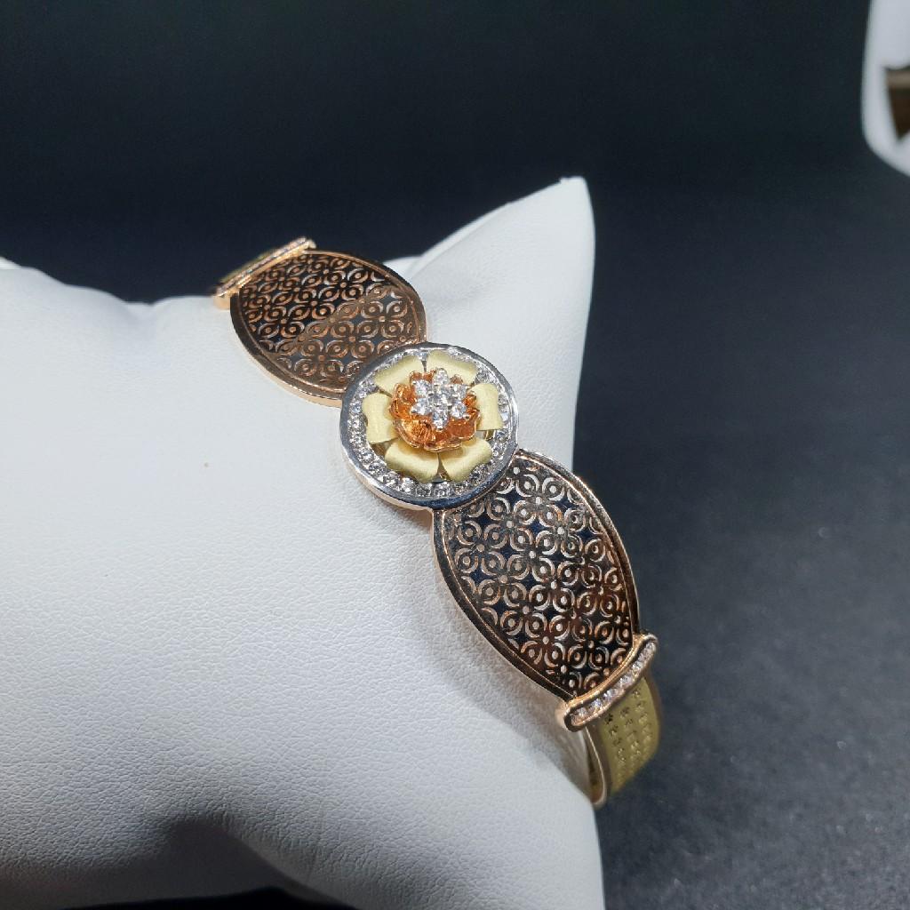 18k rose gold/ green gold ladies bracelet