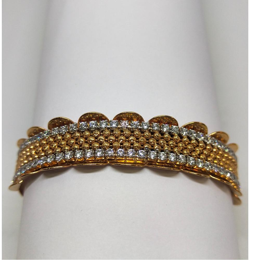 18K rose gold diamond line bracelet