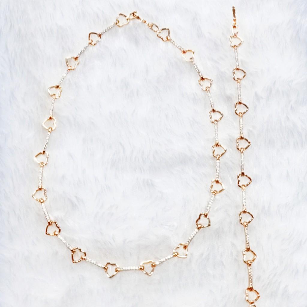 rose gold plating chain bracelet