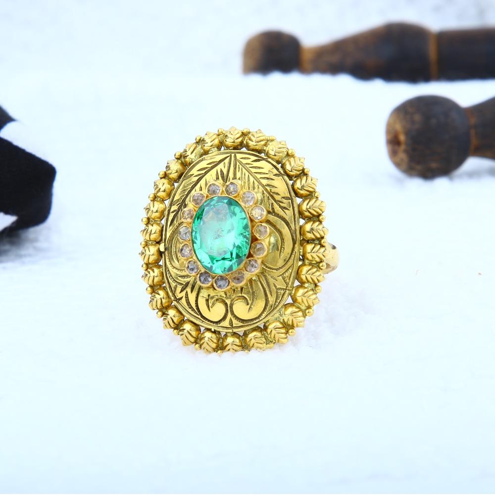 22KT Gold Antique Ring LRG-0003