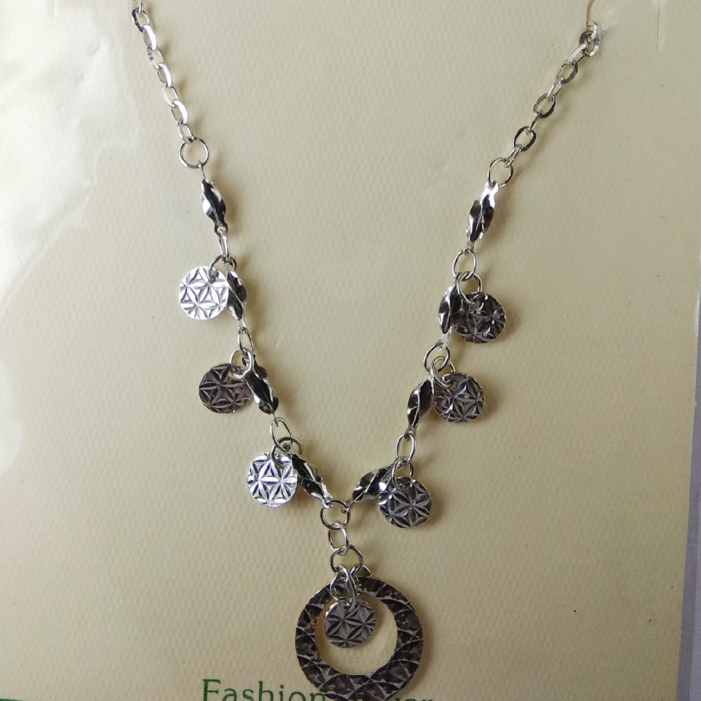 92.5 sterling silver chain with pendant ML-54