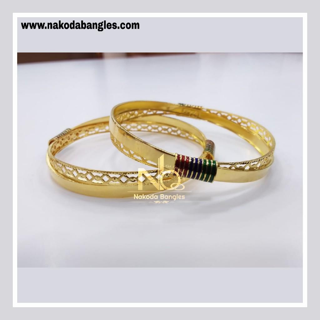 916 Gold Patra Bangles NB - 838