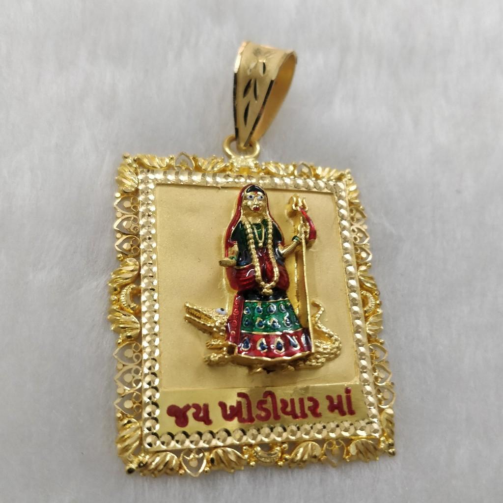 916 Gold Gent's Fancy Khodiyar Maa Pendant