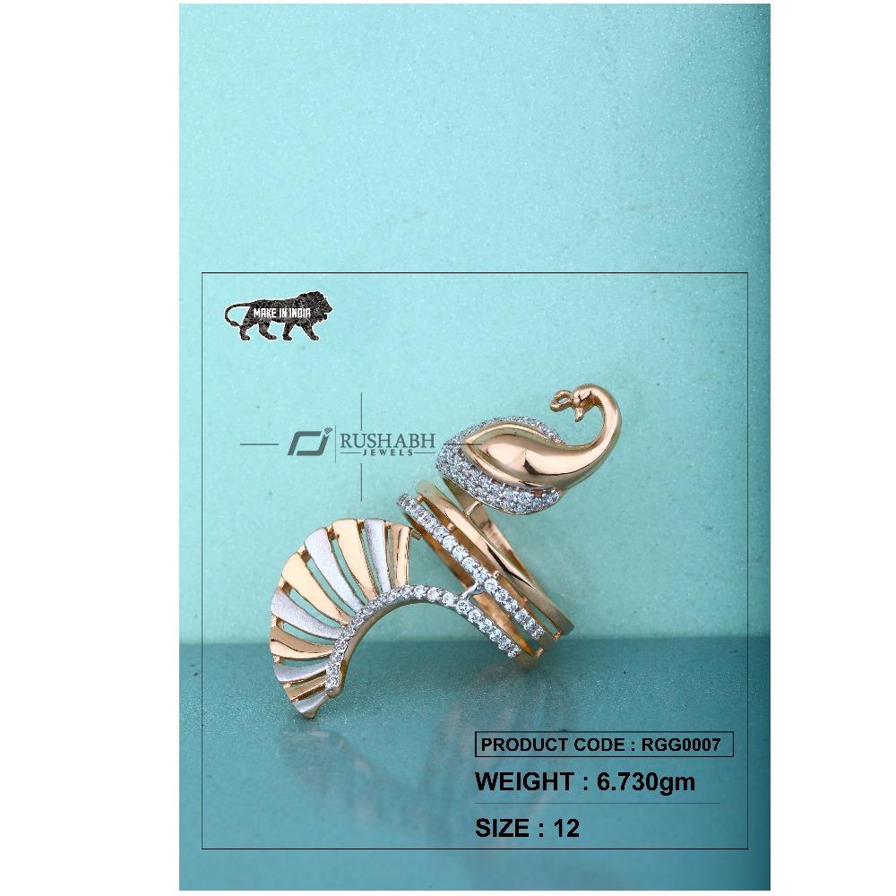 Gold cz diamond ladies ring rgg0007