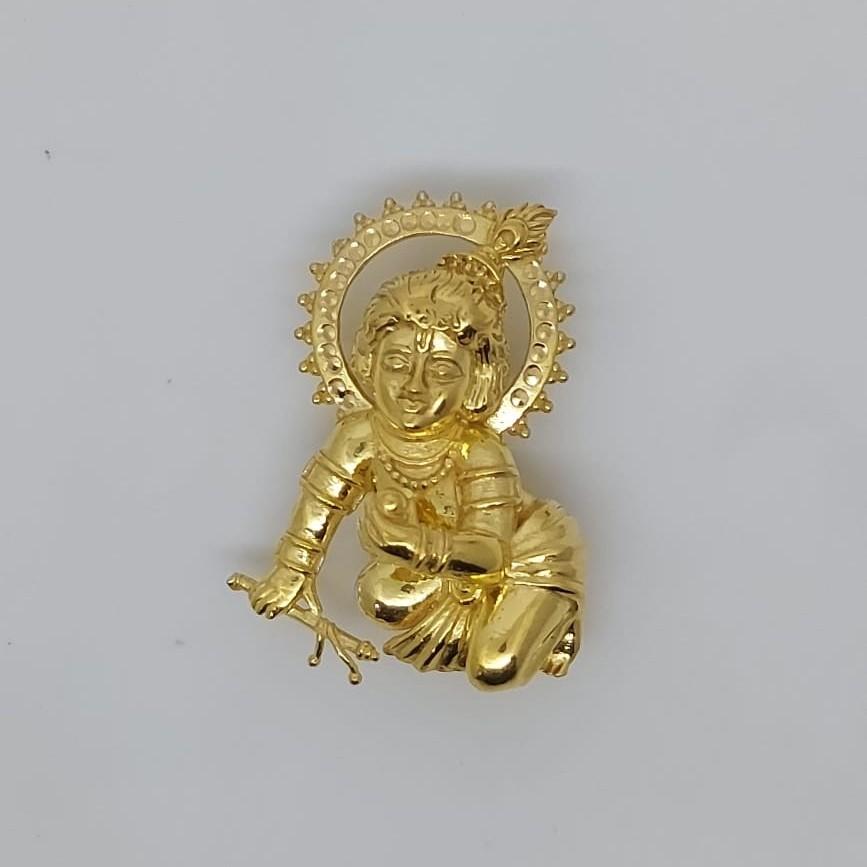 916 Gold Fancy Gent's laddu Gopal Pendant