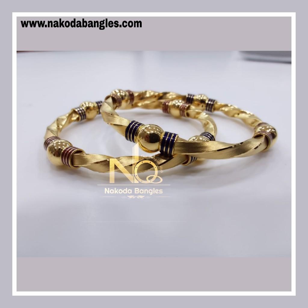 916 Gold Patra Bangles NB - 843