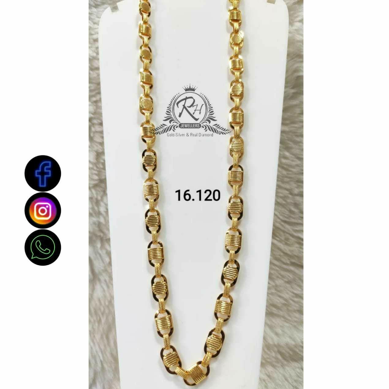 22 Carat Gold Gents Chain RH-CH770