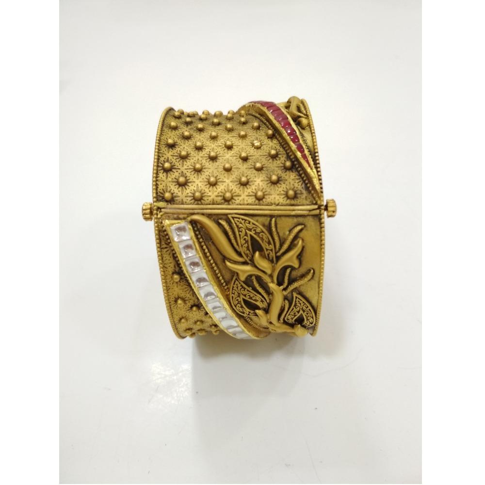 916 Gold Antique Bridal Kada KG-B001