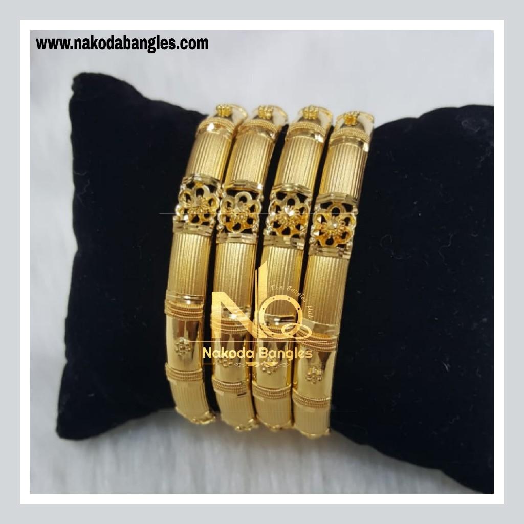 916 Gold Patra Bangles NB - 773