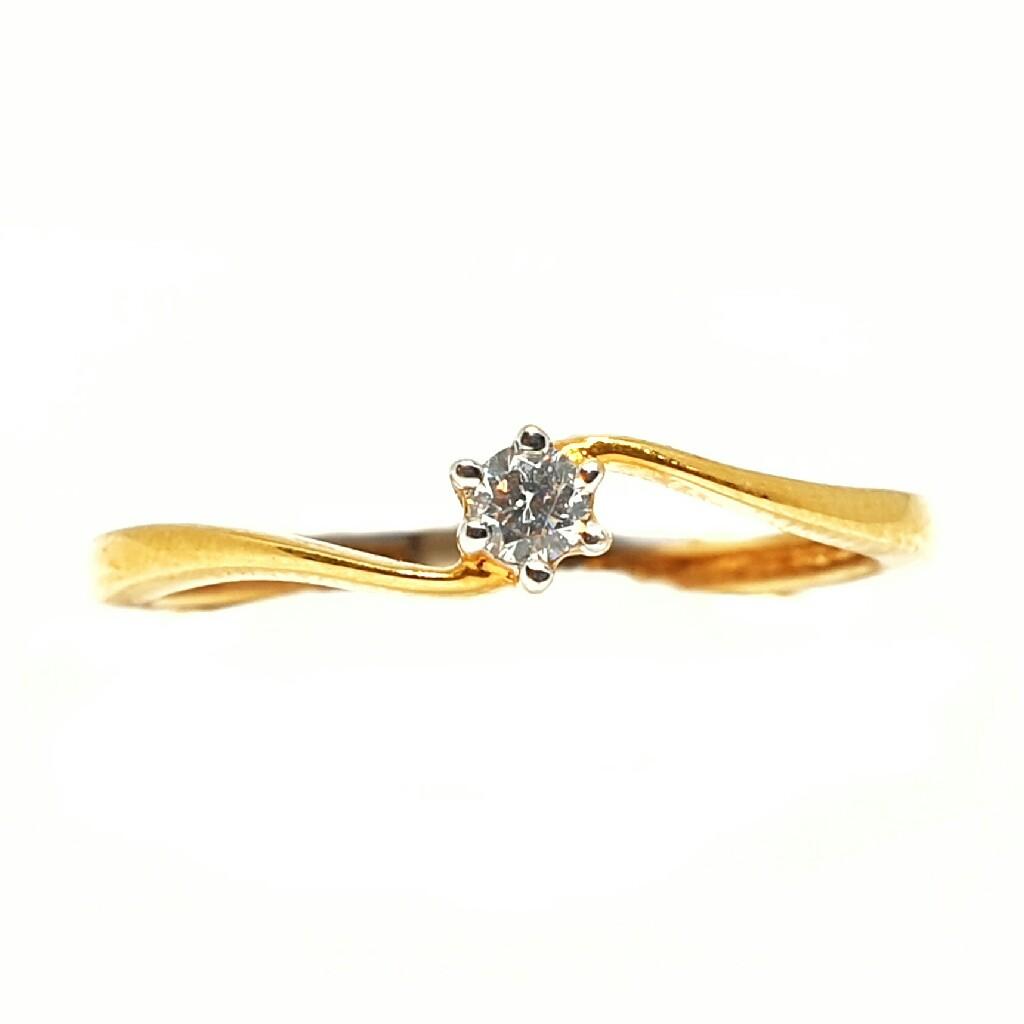 18k gold real diamond ring mga - rdr0023