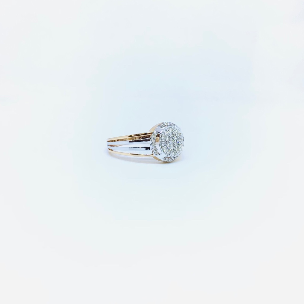 REAL DIAMOND FANCY BRANDED RING