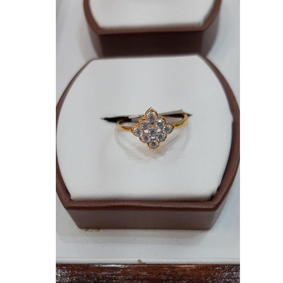 916 Gold CZ Delicate Ring For Women MJ-R009