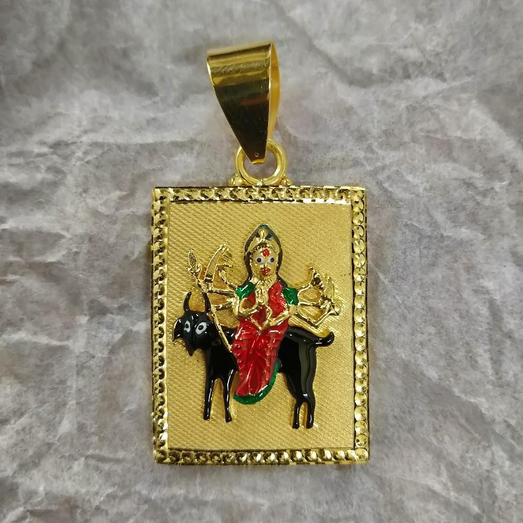 916 Gold Fancy Meladi Maa Pendant