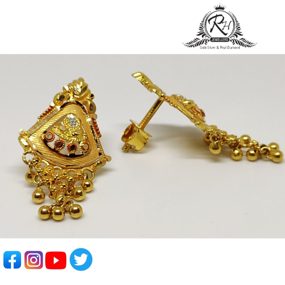 22 carat gold traditional ladies earrings RH-ER855