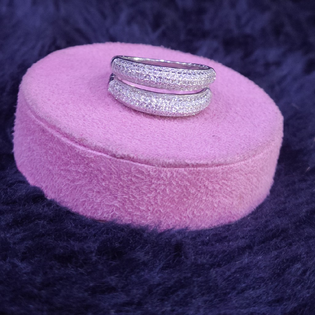 92.5 Sterling Silver Ether Ring For Women