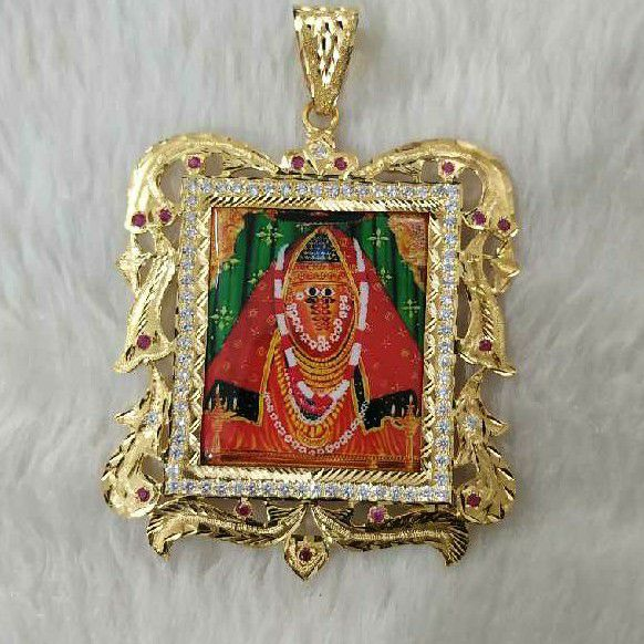 Ashapura Maa Gold Photo Pendant