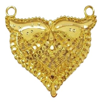 22k Gold Halmarked Double Kunda Pendent