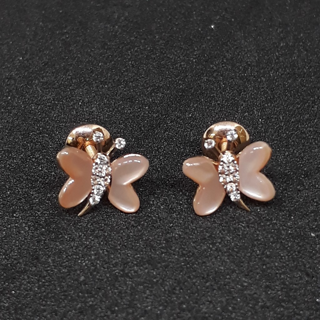 18k Pink Butterfly Gold Pendant set