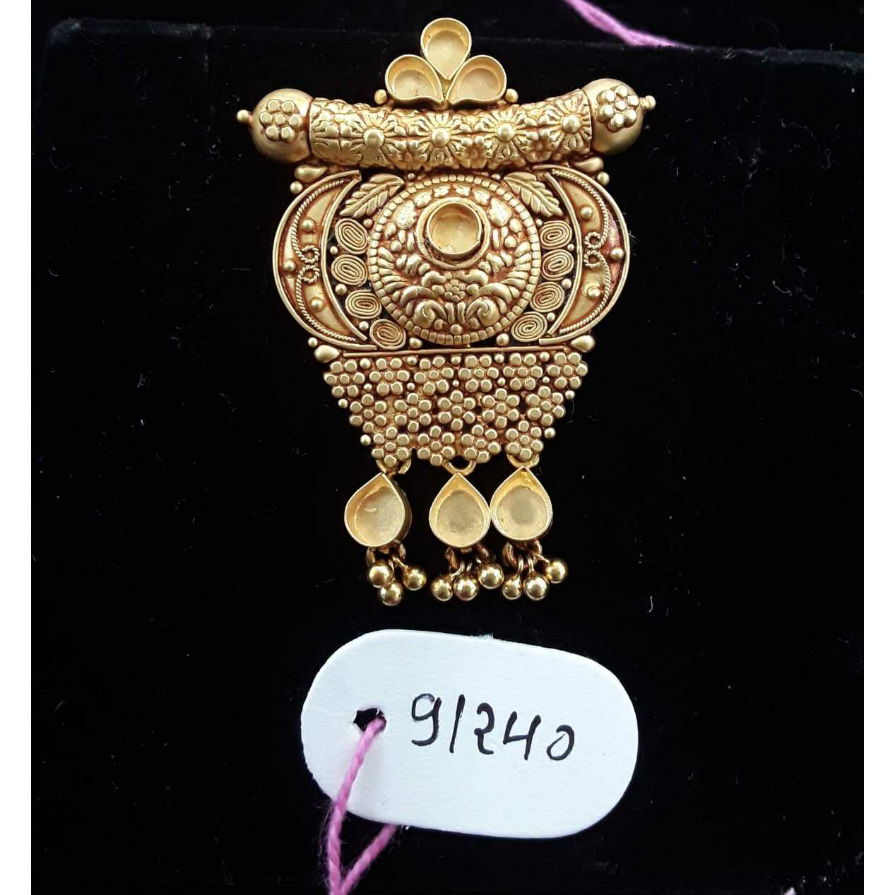 916 Antique Jadtar Khokha Pendant