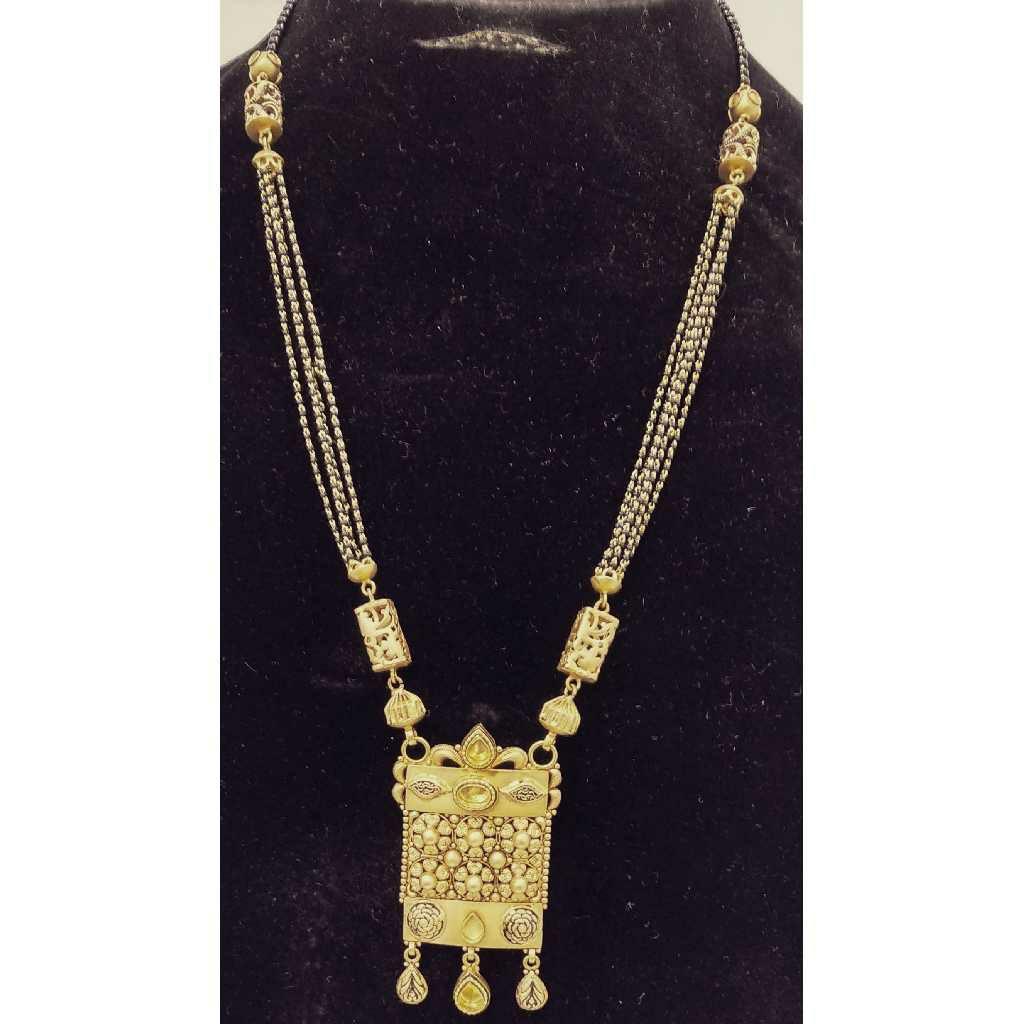 916 Gold Antique Long Mangalsutra