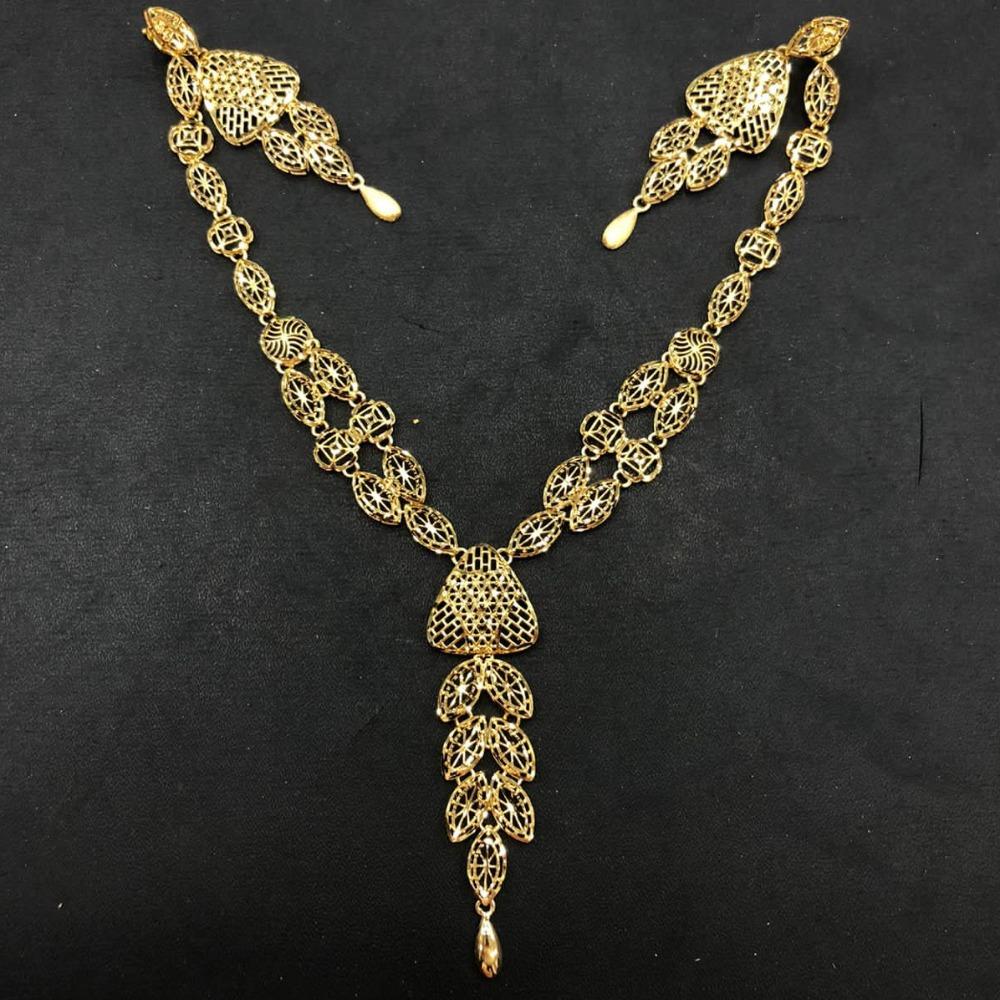916 gold delicate necklace set