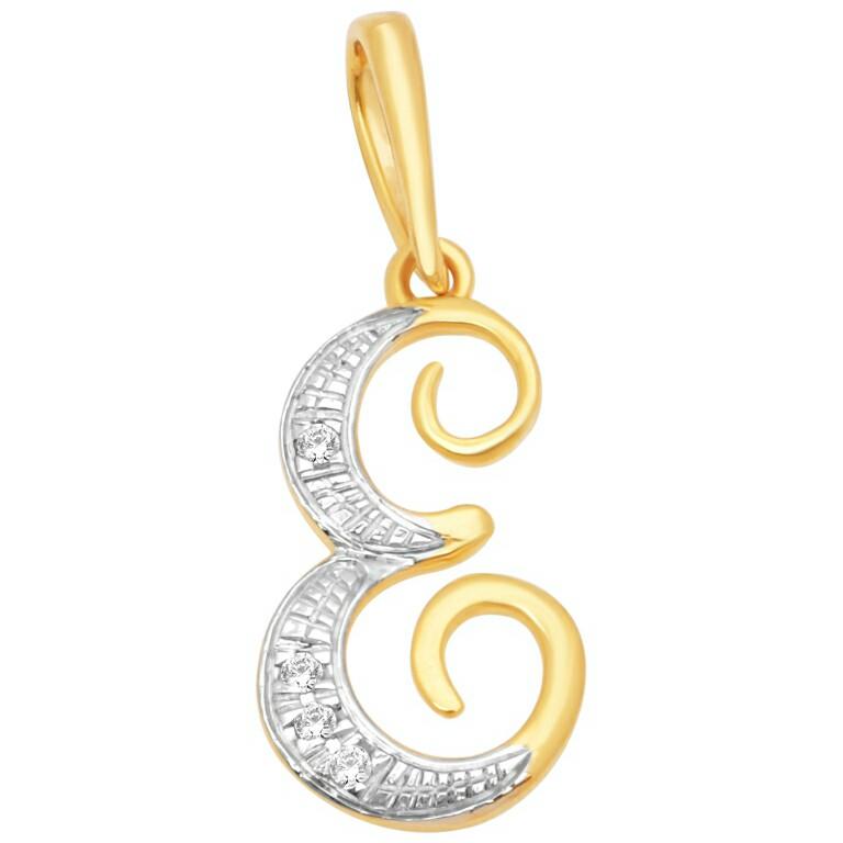 18k gold real diamond pendant mga - rp005
