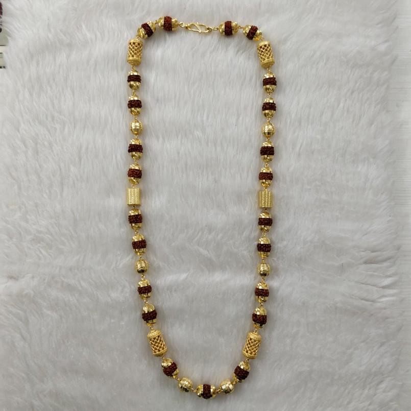 916 Gold Bahubali Gent's Rudraksh Mala