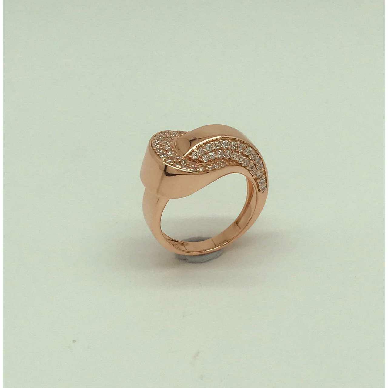 Micro Dimond Golden Finish Ring Ms- 4049