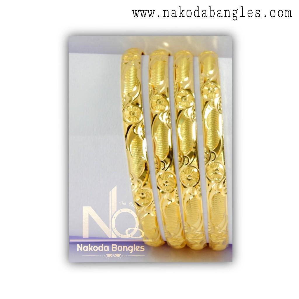 916 Gold CNC Bangles NB - 1320