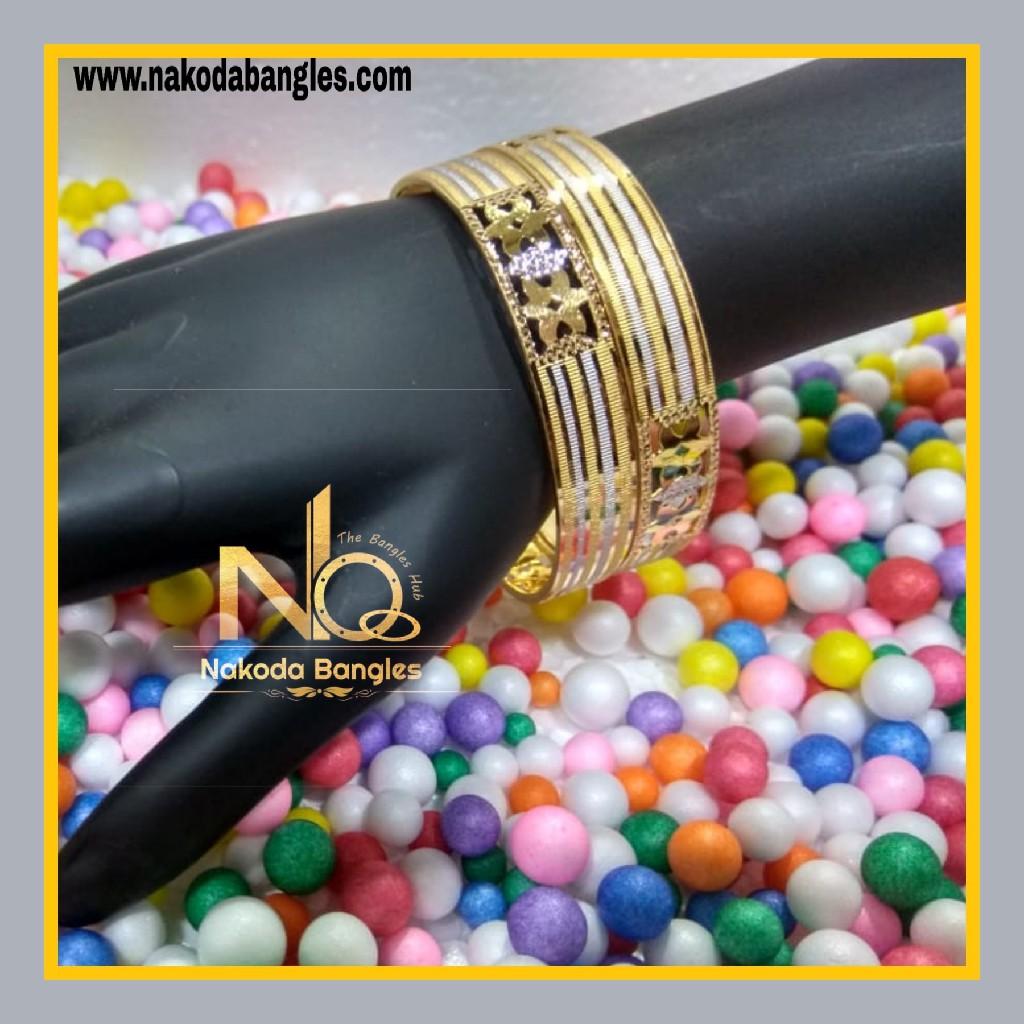 916 Gold Patra Bangles NB - 623