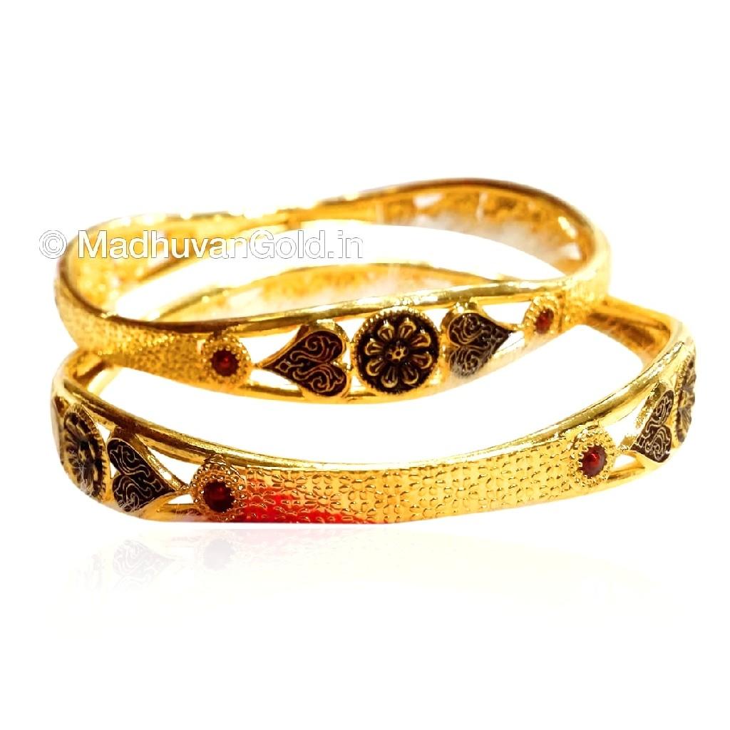 22k gold oxidised copper kadli mga - gk021