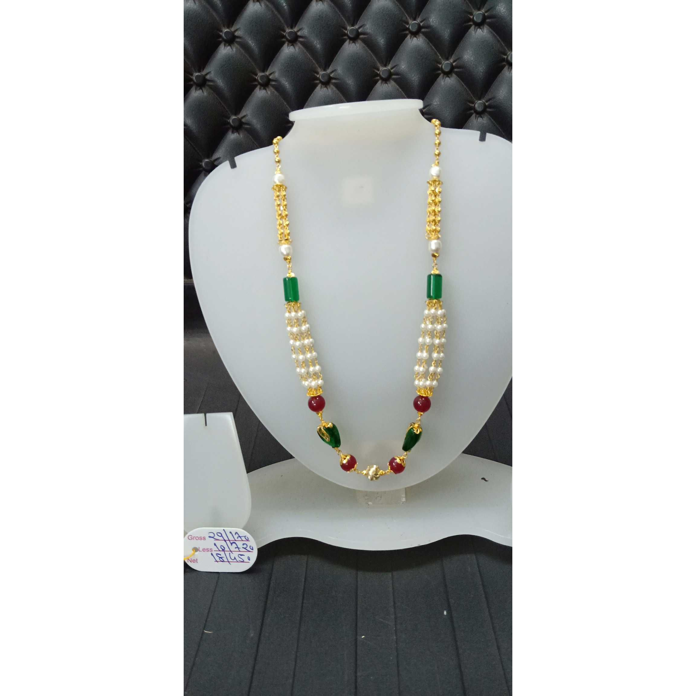 22 Ct Gold Fancy Colorful Bridal Mala