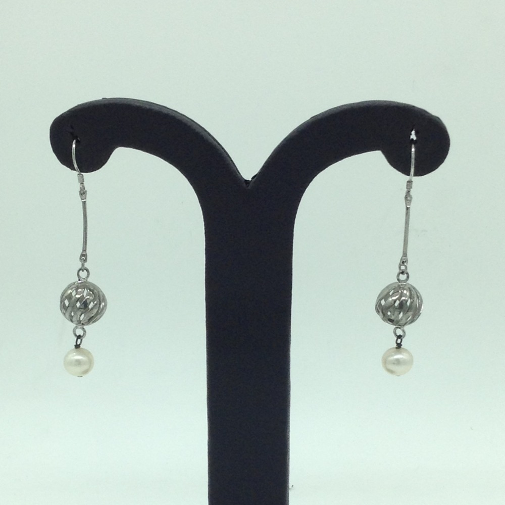 PearlSilverEar HangingsJER0159