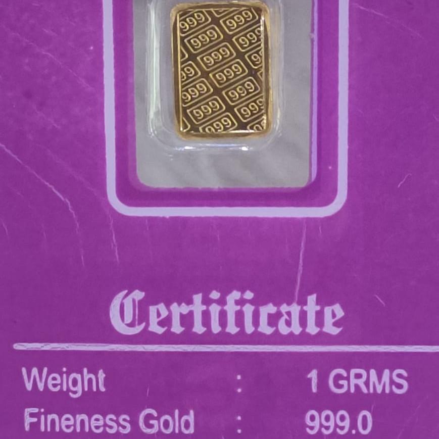 24KT 1 Gram Gold Lagdi
