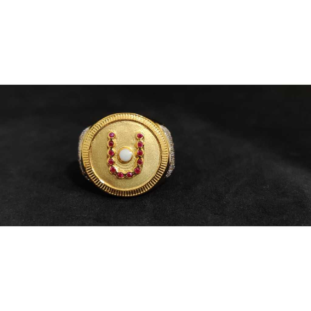 22k Gents Fancy Swaminarayan Ring Gr-27365