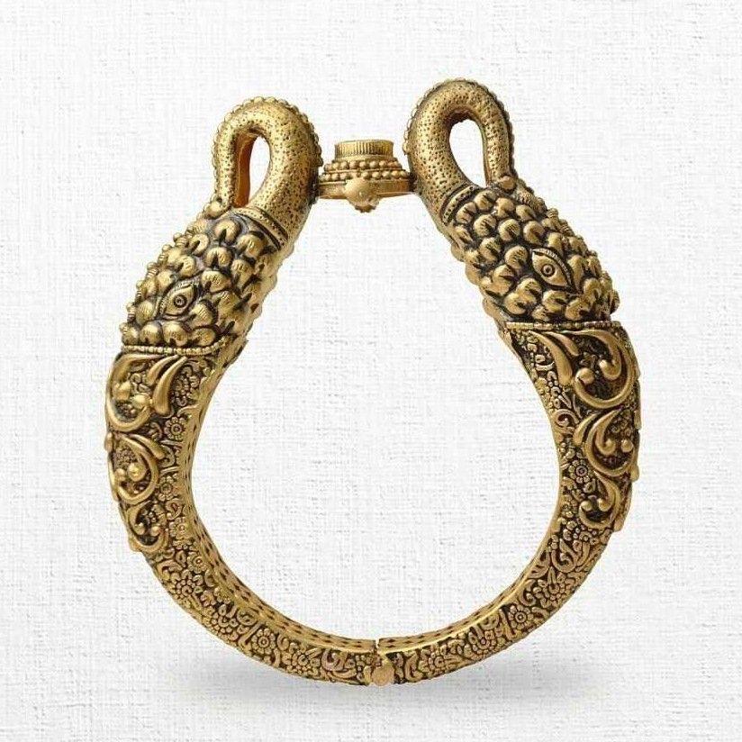 22 Karat Gold Rajputi Kada Kn1234